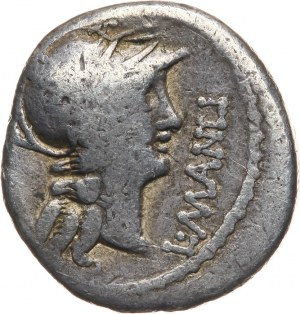 Republika Rzymska, L. Cornelius Sulla i L. Manlius Torquatus 82 pne, denar,