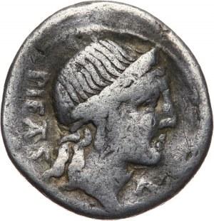 Republika Rzymska, M. Herennius M. f. 108-107 pne, denar 108-107 pne