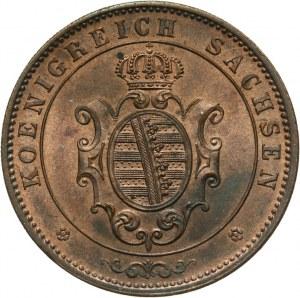 Niemcy, Saksonia, 5 fenigów 1862 B