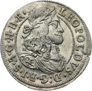 Austria, Leopold I 1657-1705, 3 krajcary 1674, Hall