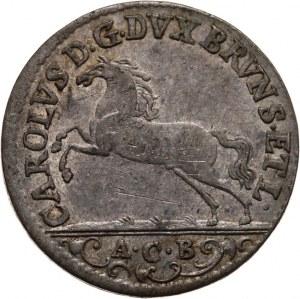 Niemcy, Brunszwik-Wolfenbüttel, Karol I 1735-1780, 1/6 talara, 1755/A.C.B