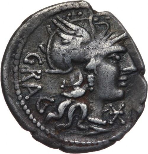 Republika Rzymska, L. Antestius Gragulus 136 pne, denar 136 pne, Rzym