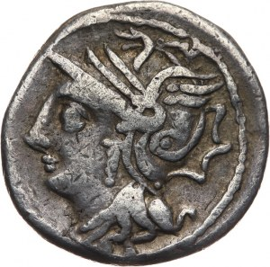 Republika Rzymska, L. Appuleius Saturninus 104 pne, denar 104 pne, Rzym