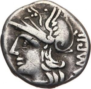 Republika Rzymska, M. Baebius Q. f. Tampilus 137 pne, denar 137 pne, Rzym