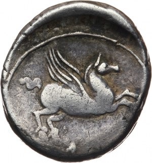 Republika Rzymska, Q. Titius 90 pne, denar 90 pne, Rzym