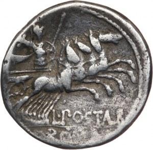 Republika Rzymska, L. Postumius Albinus 131 pne, denar 131 pne, Rzym