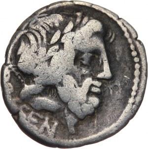 Republika Rzymska, L. Rubrius Dossenus 87 pne, denar 87 pne, Rzym