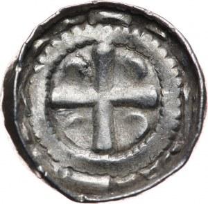 Niemcy, Saksonia - Biskupi Sascy, denar krzyżowy XI w
