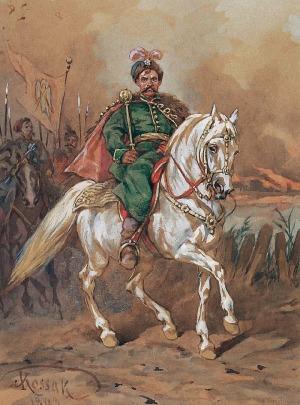 Juliusz KOSSAK (1824-1899), Bogdan Chmielnicki, 1893