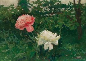 Iwan TRUSZ (1869-1940), Piwonie w ogrodzie, ok. 1910