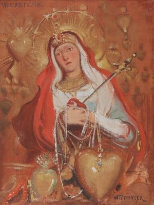 Włodzimierz TETMAJER (1862-1923), Matka Boska Bolesna, 1909