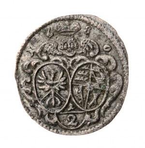 1/2 krajcara, Chrystian Ulryk z dynastii Wirtembergów, 1680