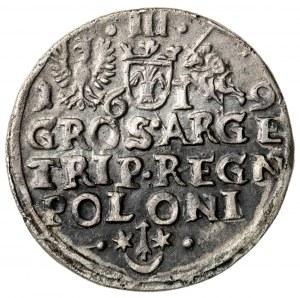 trojak, Zygmunt III Waza (1587-1632), 1619
