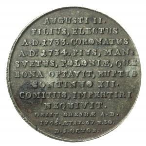August III, XIX wieczna kopia medalu z XVIII wieku