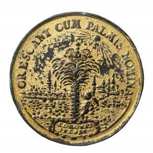 Jan III Sobieski i Maria Kazimiera, stara kopia medalu, złocenie