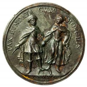 Jan III Sobieski, stara kopia medalu, Pokój z Rosją, 1686
