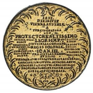 Zwycięstwo pod Wiedniem 1683, stara kopia medalu, złocenie