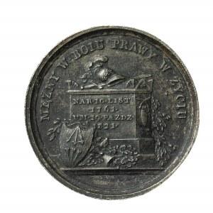 Stanisław Mokronoski, stara kopia medalu pośmiertnego, 1821