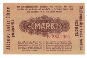 1/2 marki 1918, Kowno