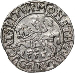 Zygmunt II August, Półgrosz 1558 Wilno - przebitka z 1555
