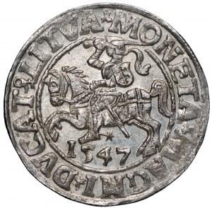 Zygmunt II August, Półgrosz 1547 Wilno - LI/LITVA