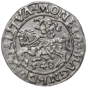 Zygmunt II August, Półgrosz 1548 Wilno - LI/LITVA