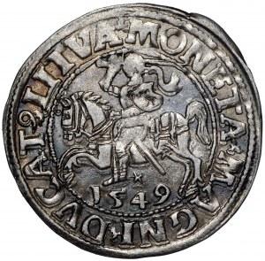 Zygmunt II August, Półgrosz 1549 Wilno - LI/LITVA