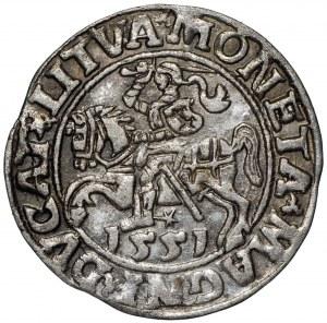 Zygmunt II August, Półgrosz 1551 Wilno - LI/LITVA