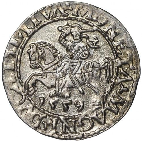 Zygmunt II August, Półgrosz 1559 Wilno - LI/LITVA