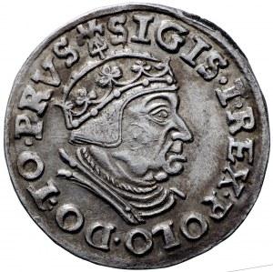 Zygmunt I Stary, Trojak 1539 Gdańsk - PRVS piękny
