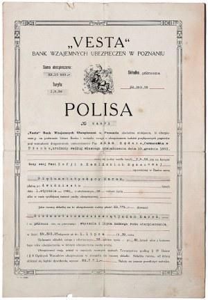 Vesta Poznań, zestaw polisa + dokumenty