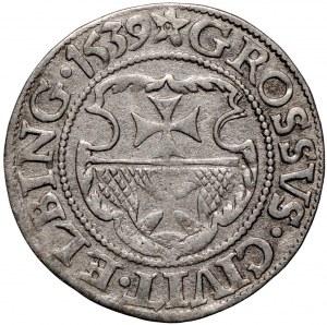 Zygmunt I Stary, Grosz 1539 Elbląg - ręka z mieczem z prawej