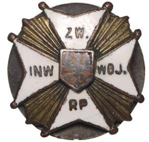 II RP, miniatura odznaki Związku Inwalidów Wojennych RP