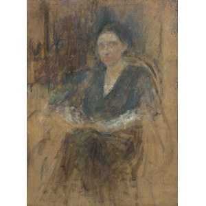 Boznańska Olga, PORTRET PANI W CIEMNEJ SUKNI