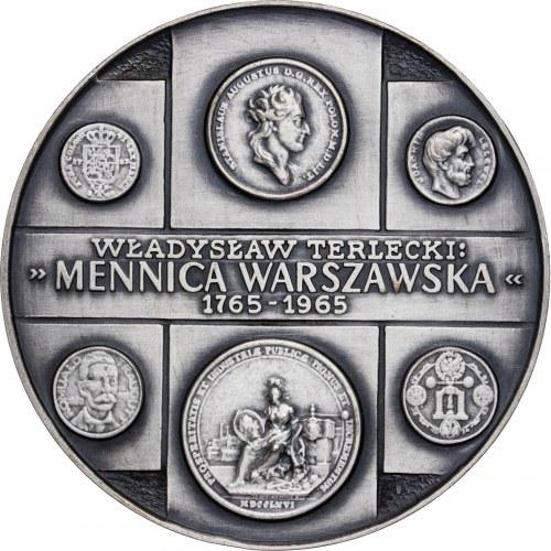 medal WŁADYSŁAW TERLECKI-NUMIZMATYK, 1978, srebro Ag, masa rzeczywista: 179 g