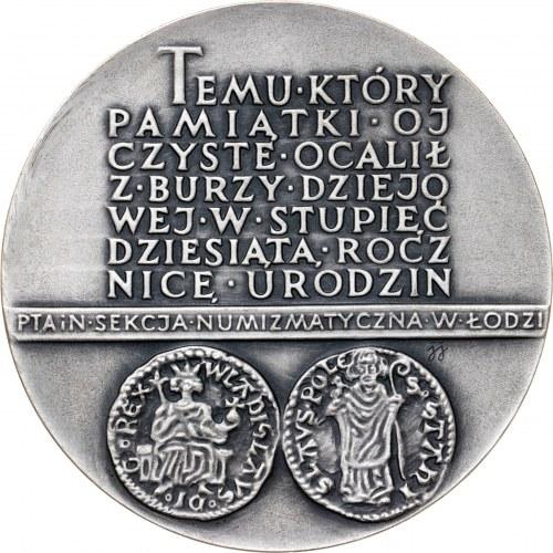 medal EMERYK HUTTEN CZAPSKI, 1978, srebro Ag, masa rzeczywista: 153 g