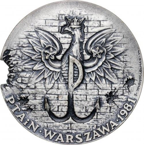 medal POWSTANIE WARSZAWSKIE, 1981, srebro Ag, masa rzeczywista: 172 g, niski nakład 20 sztuk