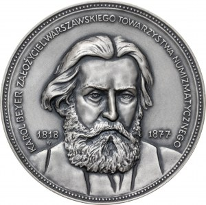 medal KAROL BEYER, 1984, srebro Ag, masa rzeczywista: 128 g, średnica 70 mm, nakład: 30 sztuk