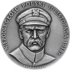 medal NIEPODLEGŁOŚĆ POLSKI, 1985, srebro Ag, masa rzeczywista: 148 g, nakład: 20 sztuk