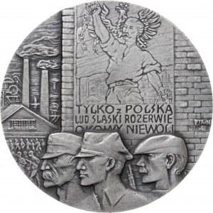 medal WOJCIECH KORFANTY, 1986, srebro Ag, masa rzeczywista: 165 g, średnica 70 mm, nakład: 20 sztuk