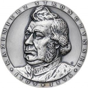 medal KAZIMIERZ STRONCZYŃSKI, 1986, srebro Ag, masa rzeczywista: 148 g, nakład: 100 sztuk