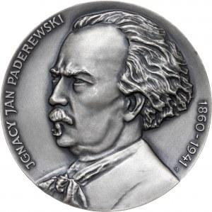 medal IGNACY JAN PADEREWSKI, 1987, srebro Ag, masa rzeczywista: 159 g, nakład: 20 sztuk