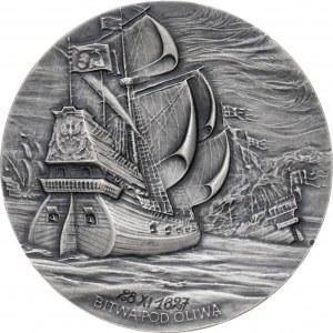 medal BITWA POD OLIWĄ, 1988, srebro Ag, masa rzeczywista: 155 g, nakład: nieznany