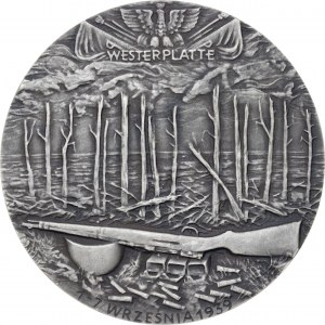 medal MAJOR HENRYK SUCHARSKI, 1984, srebro Ag, masa rzeczywista: 155 g, nakład tylko: 11 sztuk