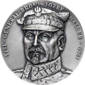Medal GENERAŁ JÓZEF HALLER, 1985, srebro Ag, masa rzeczywista: 159 g