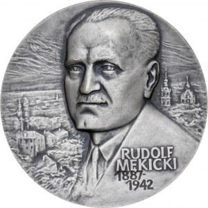Medal 100 ROCZNICA URODZIN RUDOLFA MĘKICKIEGO, 1988, srebro Ag, masa rzeczywista: 157 g
