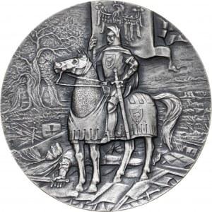 Medal GRUNWALD 1410, 1986, srebro Ag, masa rzeczywista: 139 g