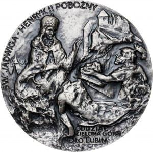 Medal 745 ROCZNICA BITWY POD LEGNICĄ, 1986, srebro Ag, masa rzeczywista: 136 g