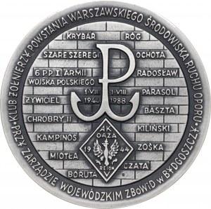 Medal GENERAŁ KAZIMIERZ SOSNKOWSKI, 1988, srebro Ag, masa rzeczywista: 148 g, nakład: 30 sztuk