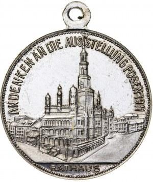 Poznań - medal z okazji Wystawy Wschodnioniemieckiej Przemysłu, Rzemiosła i Rolnictwa (zalążek późniejszych TARGÓW POZNAŃSKICH), 1911